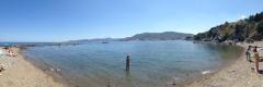 Panoramabild vom Strand
