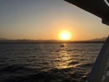 Sonnenuntergang auf dem Meer!
