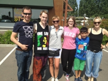 Familientreffen in Beaune bei McDonalds