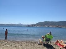 Hier der Strand mit vereinzelten Besuchern! Nix los heute!